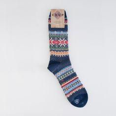 Chup - Hansker Socks - Blue - Indigo & Cotton