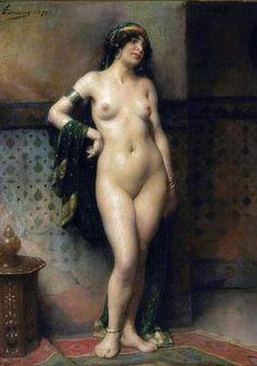 Henri Adrien Tanoux (French painter,1865-1923) – La Belle Esclave
