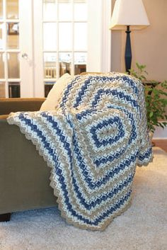 Radiant Ridges Blanket FREE crochet pattern - Hope this is easier than it looks, because it is really cool!