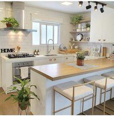 Kitchen Room Design, Home Room Design, Home Decor Kitchen, Kitchen Interior, Home Kitchens, Small Kitchens, Kitchen Ideas, Pantry Design, House Rooms