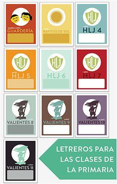 Para La Primaria: Version Actualizada: Descarga Gratuita: Letreros Para Las Clases De La Primaria