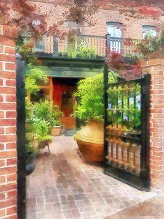 Baltimore - Restaurant Courtyard Fells Point