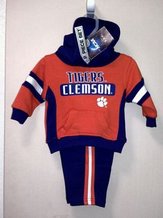 CLEMSON TIGERS TODDLER OUTFIT NWT!!!  12 MO. 2 PIECE SETS!!!!! #Clemson