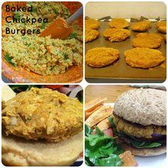 clean eating recipe chickpea burgers, vegetarian and optional vegan DELISH!!