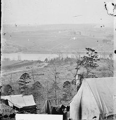 Knoxville from the south bank of the Tennessee River after the end of Siege of Knoxville. Photo: George N. Barnard, December 1863.