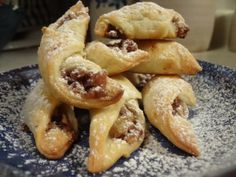 Now THIS is the kifli recipe! AND there is a nut filling recipe here too Hungarian traditions Slovak Recipes, Hungarian Recipes, Hungarian Food, Holiday Baking, Christmas Baking, Christmas Cookies, Hungarian Cookies, Fun Desserts, Dessert Recipes