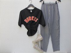 BURKES baseball JERSEY / vintage by dryvintageandthrift on Etsy, $35.00