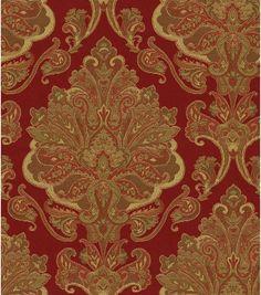 Upholstery Fabric-Waverly Aziza GarnetUpholstery Fabric-Waverly Aziza Garnet,