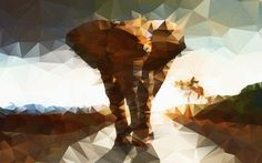 1920x1200 Wide Wallpapers Elephant Polygon poly polygon HD wallpapers backgrounds image wide new tablet smart phone pc laptop 2013 2014 2015 201606