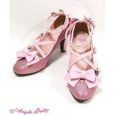 Party Glitter Shoes (2015 2nd Release) ❤ liked on Polyvore featuring shoes, lolita, angelic pretty, party glitter, pink, party shoes, going out shoes, pink glitter shoes, glitter shoes and pink shoes