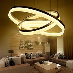 CAC Modern LED living dining room pendant lights suspension luminaire suspendu led ring lighting lamp fixture de techo colgante1 ring D40cmwarm white -- Be sure to check out this awesome product. (Note:Amazon affiliate link)