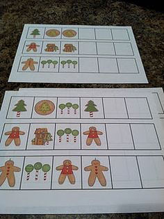 Gingerbread Patterns and Math Stations Great Monthly Plan * Preschool Christmas, Preschool Math, Christmas Activities, Christmas Crafts For Kids, Christmas Projects, Activities For Kids, Kindergarten Math, Educational Activities, Preschool Ideas