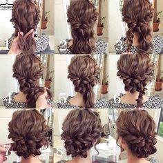 Step by Step Bun Updo Hair Tutorials