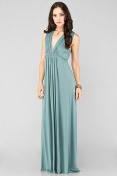 Love, love, love this! Rachel Pally Long Sleeveless Caftan Dress in Aegean $134 at www.tobi.com