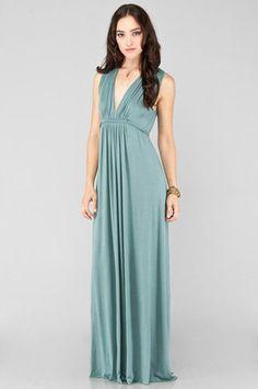 Love, love, love this! Rachel Pally Long Sleeveless Caftan Dress in Aegean $134 at www.tobi.com