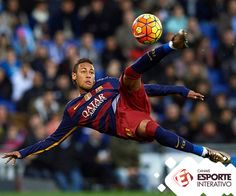 Neymar JR of Barcelona in action during the La Liga match between Real CD Espanyol and FC Barcelona at Cornella-El Prat Stadium on January 2016 in Barcelona, Spain. Get premium, high resolution news photos at Getty Images Neymar Jr, Neymar Goal, Lionel Messi, Cristiano Ronaldo, Fc Barcelona Neymar, Barcelona Spain, Sports Stars, Sports Photos, Football Players