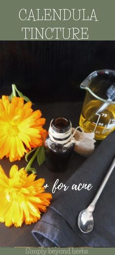 Calendula tincture has a large spectrum of uses from sore throat inflammations to healing open wounds and hemorrhoids. Its spasmolytic effect helps treat abdominal cramps and constipation. Natural Healing, Natural Oils, Natural Skin Care, Natural Parenting, Sore Throat, Healthy Diet Plans, Medicinal Herbs, Natural Essential Oils, Calendula