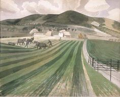 'Mount Caburn, East Sussex' by Eric Ravilious, 1935 Sussex Downs, East Sussex, Landscape Art, Landscape Paintings, Landscapes, Champs, Plein Air, Countryside, Illustration Art
