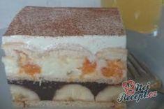 Příprava receptu Famózní nepečené ovocné řezy, krok 10 Vanilla Cake, Dairy, Cheesecake, Erika, Food, Low Carb, Strawberry Tarts, Chocolate Pies, Mandarin Oranges