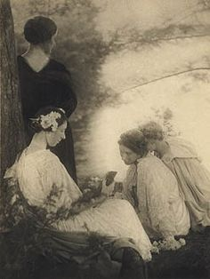 "The Seasons by Alice Boughton. The women from the photo ""Two Women Under a Tree"" are in this photo also, and are very much alive."