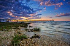 Mackinac Bridge Sunset - Mackinaw City, Michigan