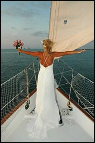 Wedding on a boat in the Florida Keys
