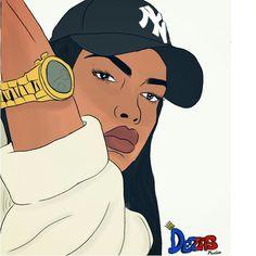 Dezas studio, NY cap, girl drawing