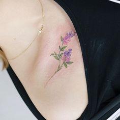 Billedresultat for lilac watercolor tattoo