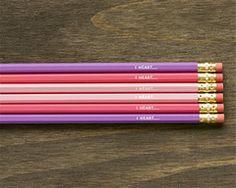 I Heart... Pencil Set (6 Pack)