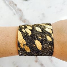 ALV JEWELS COWHIDE CUFF // alvjewels.com