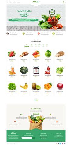 Buy FreshMart - Organic Food PSD Template by Nova-Creative on ThemeForest. Our Premium Prestashop Templates Organic Food Online, Organic Food Shop, Food Web Design, Creative Web Design, Design Design, Bakery Website, Food Website, Website Design Layout, Website Design Inspiration