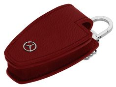 This precision-fit black or red case, in high-quality leather, provides ideal protection for your key. Saddle Bags, Mercedes Benz, Chloe, Key, Fitness, Leather, Black, Unique Key, Black People