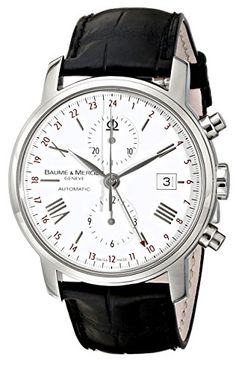Baume & Mercier Men's 8851 Classima Executives Chronograph White Dial Watch – Houffpauir Swiss Watches