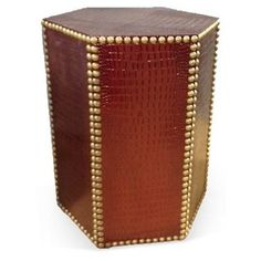 Check out this item at One Kings Lane! Blake Textured Side Table, Merlot