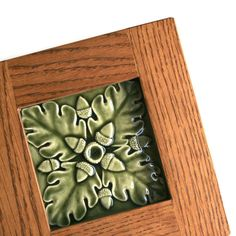 Craftsman Bungalow Style Tiles | Craftsman Home-Bungalow Mission - Wall Decor - Oak framed Acorns and ...