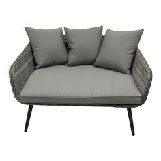Charles Bentley Rattan Bed Outdoor Furniture Water Resistant Cover Lightweight in Grey Day with Waterproof Finish