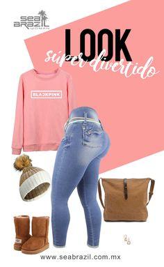 Nosotros amamos este #Outfit para el fin de semana; perfecto para usarlo en Navidad, al día siguiente de la cena. #SeaBrazil #Jeans #Moda #Fashion #Tendencia #Trendy #Mujer #Woman #Style #Estilo