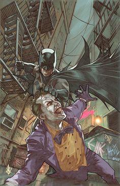Vs Joker by Benttibbisson DC Comics Comic Book Artwork Joker Comic, Joker Batman, Batman Comic Art, Gotham Batman, Joker Art, Batman Comics, Batman Robin, The Joker, Batman Stuff