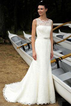 Augusta Jones Bridal Boat Neck. Beautiful and classic