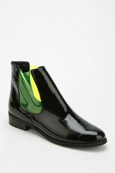 Deena & Ozzy Contrast Panel Ankle Boot #urbanoutfitters