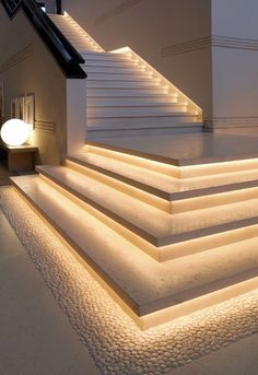 Home Stairs Design, Home Building Design, Dream Home Design, Modern House Design, Modern Stairs Design, Stair Design, Dream House Interior, Luxury Homes Dream Houses, Home Interior Design