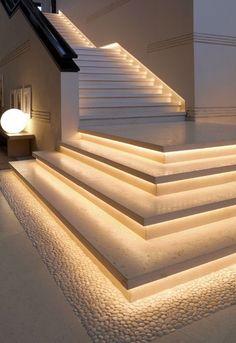 Home Stairs Design, Home Building Design, Dream Home Design, Modern House Design, Modern Stairs Design, Stair Design, Modern Apartment Design, Dream House Interior, Luxury Homes Dream Houses