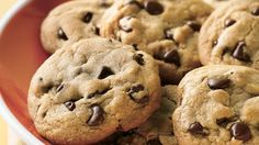 """This might just be the ultimate chocolate chip cookie recipe (besides our refrigerated dough, of course). We're talking soft, chewy cookies studded with melty chocolate chips and baked to golden-brown perfection. With a yield of 72 cookies, this is the very definition of a """"big batch"""" recipe, so feel free to save some of this freezer-friendly dough for later. Just freeze individual scoops, and your cookies can go straight from freezer to oven. Just add about five minutes to bake time for…"""