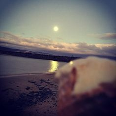 Me and the moon sharing an ice cream #apollobay #dooleys #bliss #heaven #favouriteplace by suehx http://ift.tt/1LQi8GE
