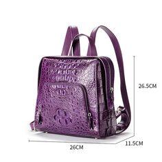 b076c40ec036a5 Ladies Genuine Crocodile Skin Backpack, Shoulder Bag