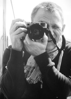 Daniel Craig on the set of Skyfall