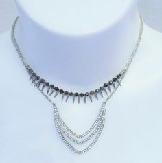 Steve Madden 2 Necklace Stack or Single Wear Silver NWT #SteveMadden #Layered