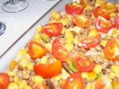 Salada de grão-de-bico e lentilhas ao molho de mostarda de Dijon