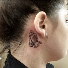 I like this ** Praying Arms Tattoo Behind Ear | Greatest Tattoo Concepts Gallery                                                                                                                                                                                 More