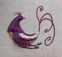 Paradise Bird Stumpwork Embroidery by *MasonBee on deviantART